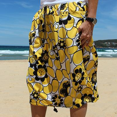 YELLOW AND BLACK FLORAL PRINT Bottom Change Mate Sydney Australia