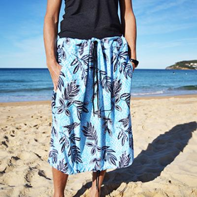 BLUE HAWAII PRINT Bottom Change Mate Sydney Australia