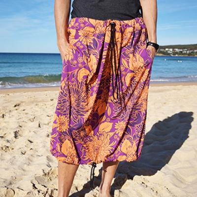 PURPLE & ORANGE FLORAL PRINT Bottom Change Mate Sydney Australia