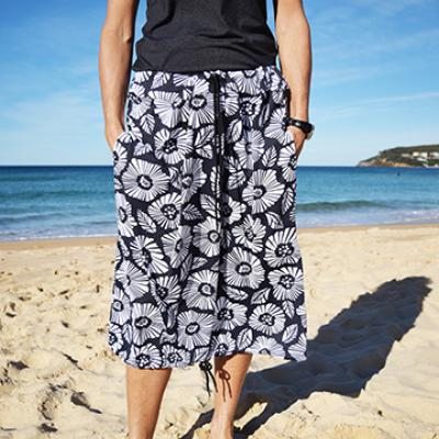 CHARCOAL GREY FLORAL PRINT Bottom Change Mate Sydney Australia